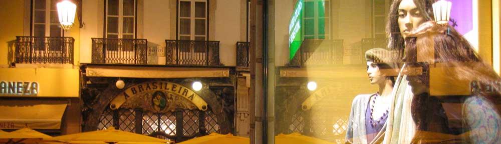 lissabon fussgängerzone spätabends © 2007