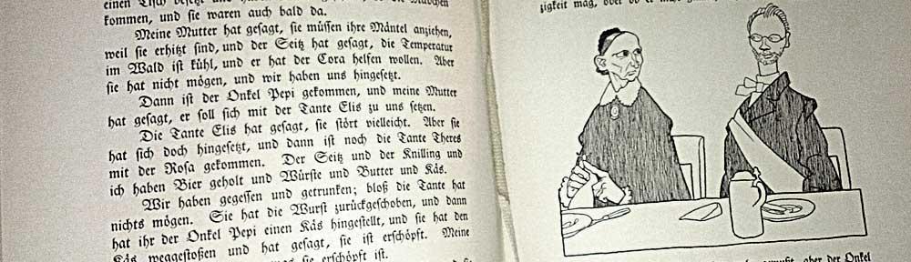 Zeichnung von Olaf Gulbransson in Tante Frieda, von Ludwig Thoma