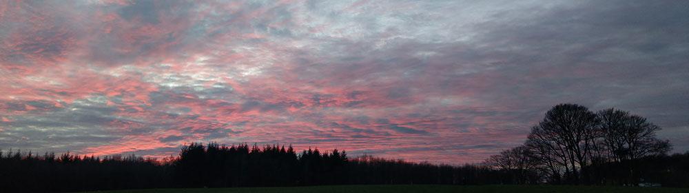 Himmel Sonnenuntergang Richtung Belgien